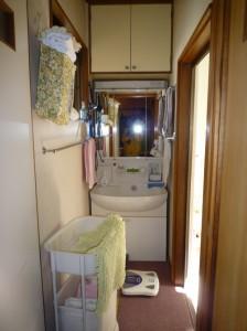洗面所と共有の脱衣室は大変狭く、子どもがお風呂を上がってからゆっくりする事が出来ない。