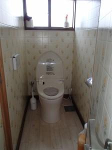 0.5坪の狭いトイレ