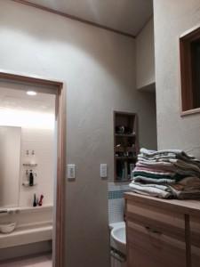 洗面所もMPパウダー仕上