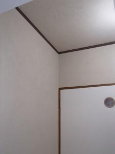 壁は珪藻土仕上げ