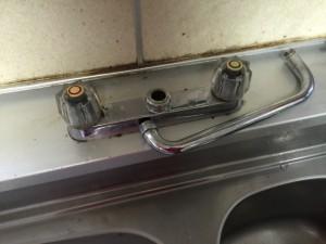 今回の工事は水栓の故障がきっかけです。
