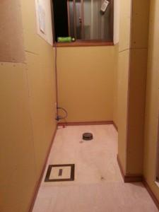 床・壁の下地が仕上がった状態です。
