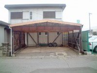 車庫屋根張替え・ポーチ屋根補修工事