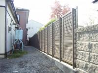 目隠し・風通し・安全のフェンス工事