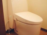 狭いトイレも最新機種で広く明るく