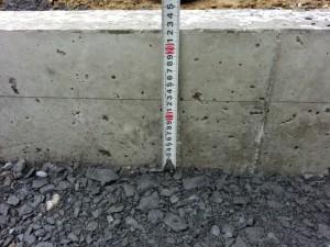 130mmのコンクリートの厚さに仕上げました。
